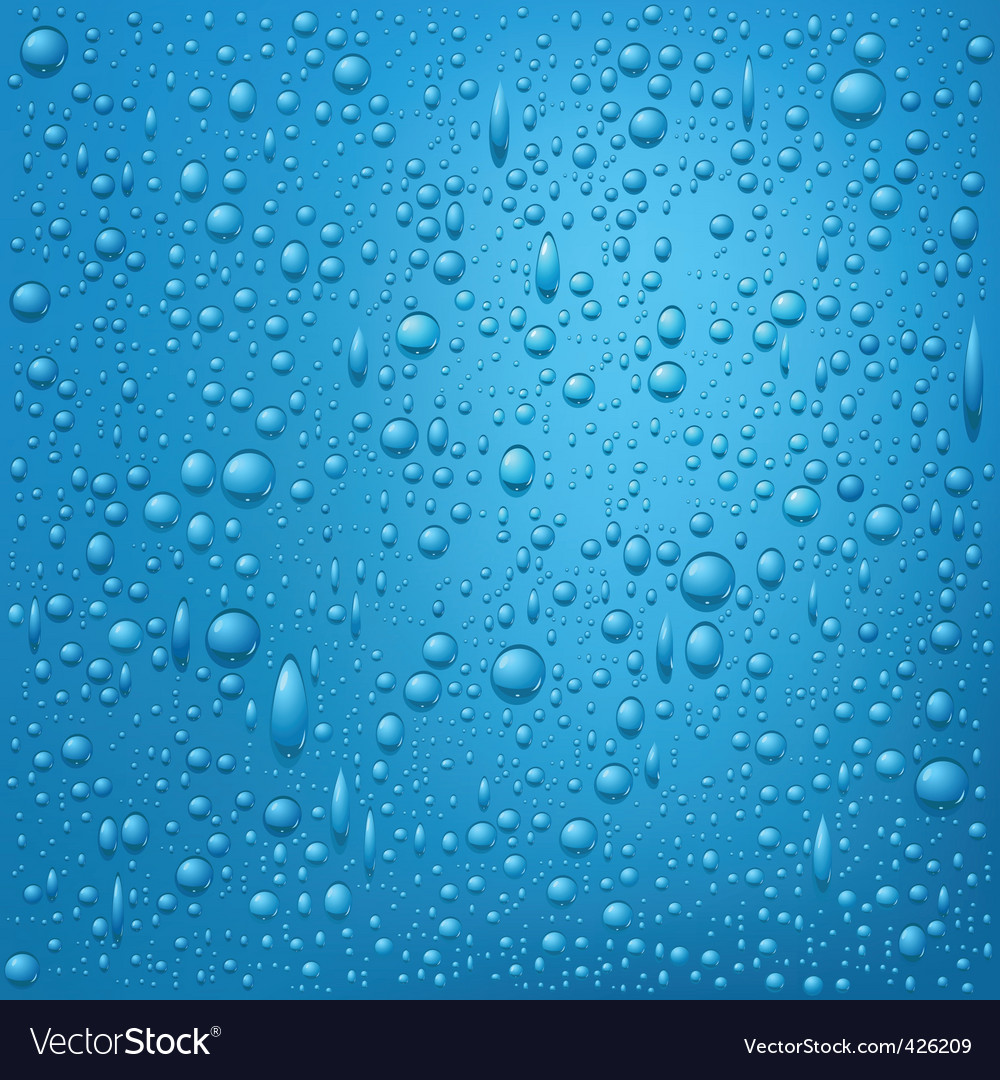 Water drops background vector