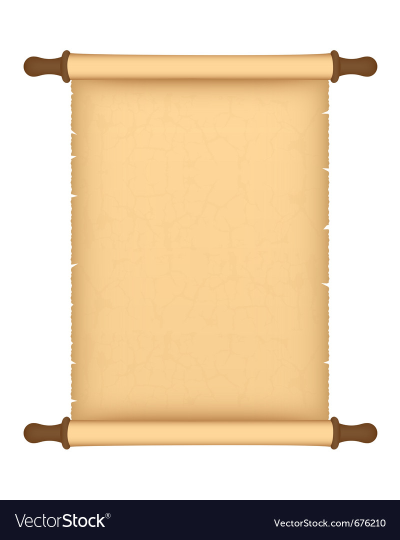 Parchment roll vector