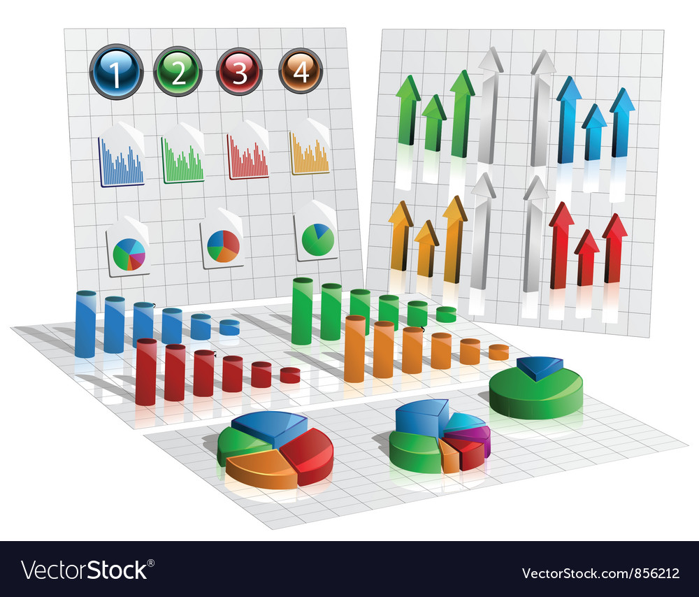 Free business graphs vector
