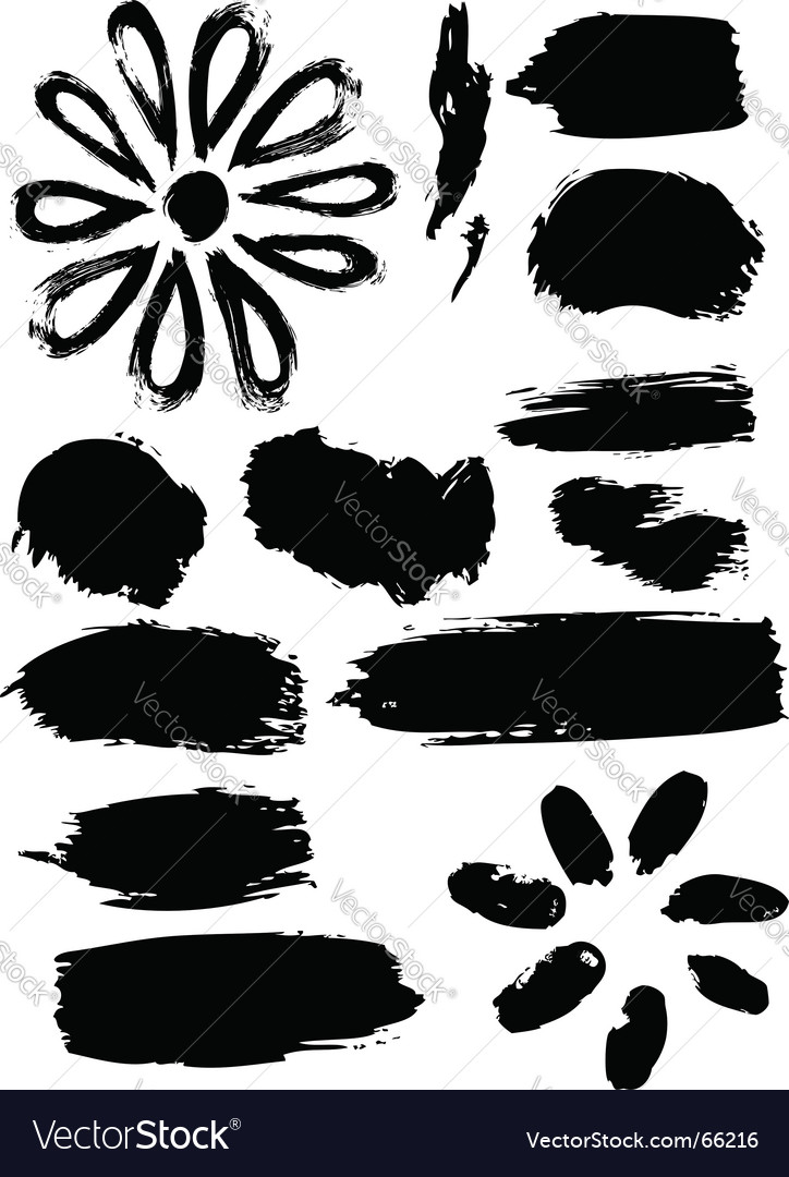 Ink elements vector