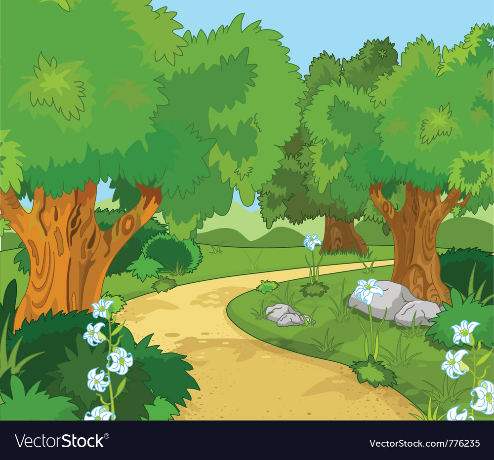 Forest landscape vector