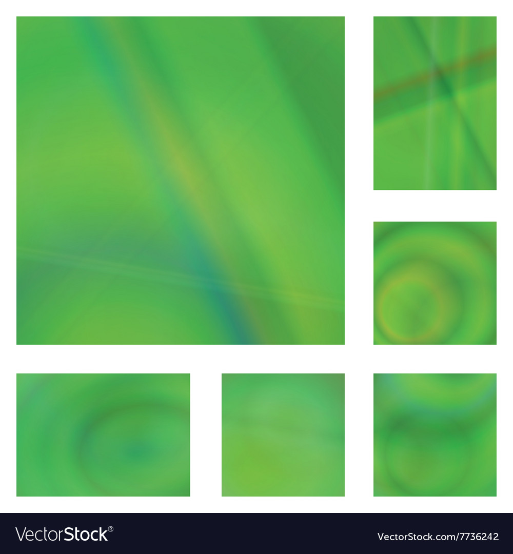 Green gradient abstract background design set