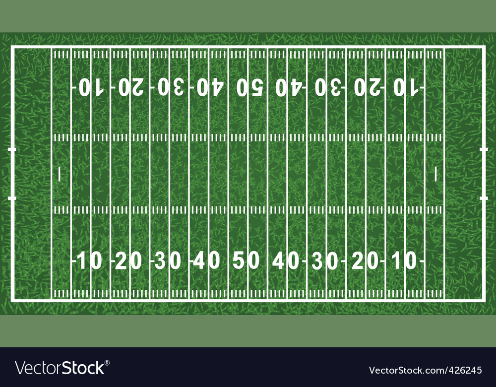 American football field vector