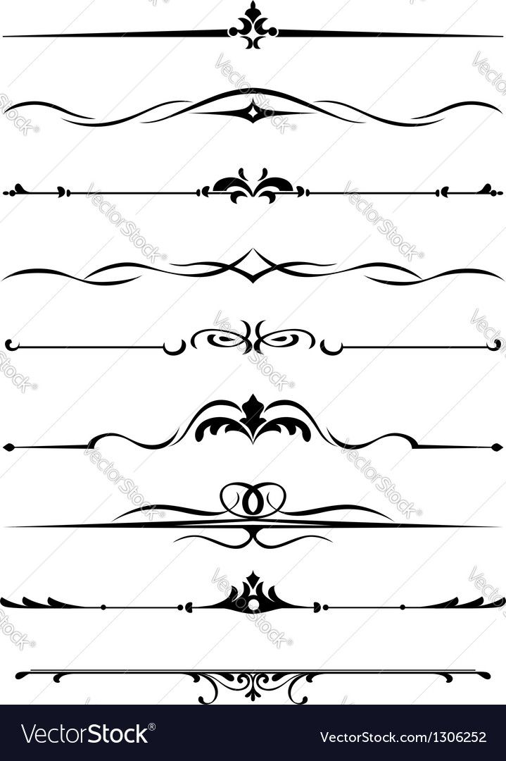 Borders and monograms vector