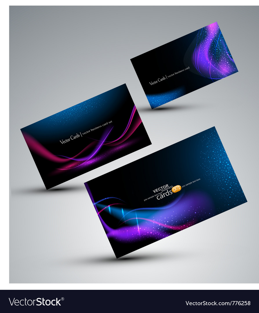 Futuristic set of cards vector