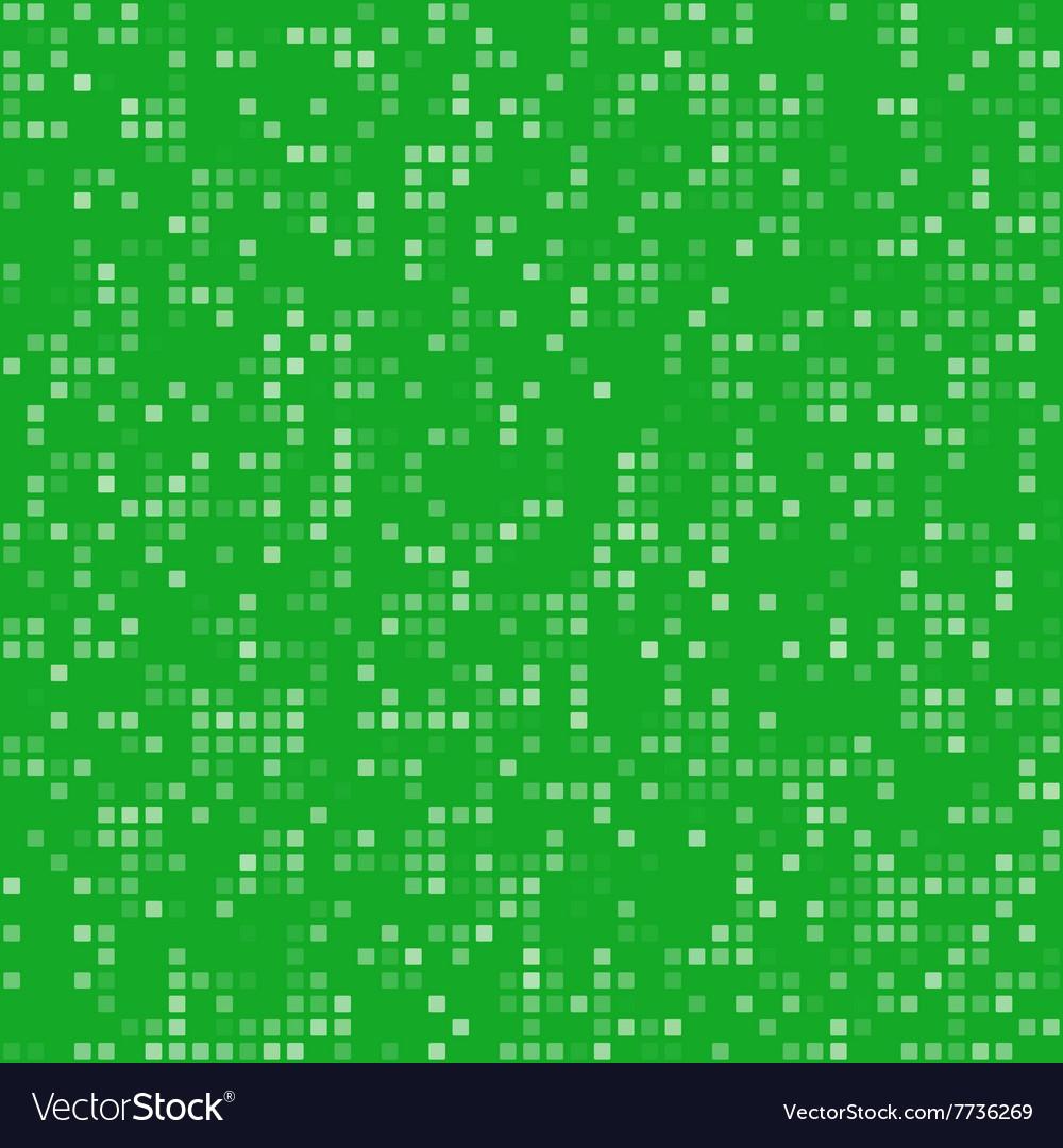 Green square pixel mosaic background