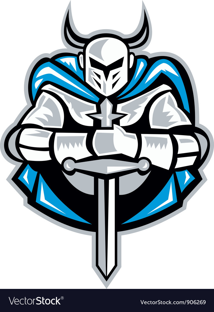 Knight with sword vector