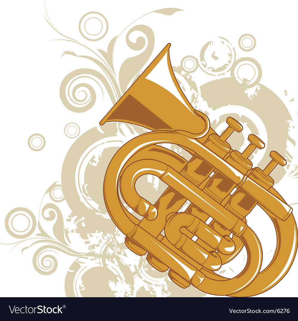 Jazz horn graphic vector