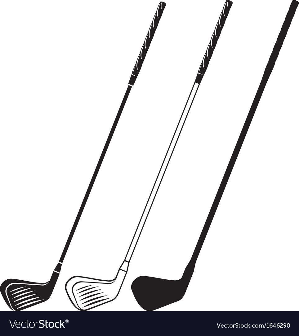 Golf club vector