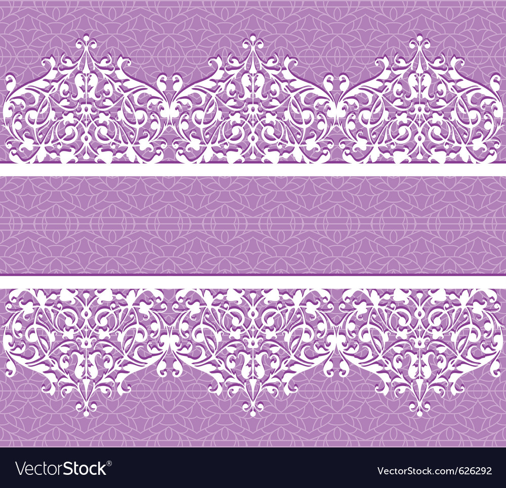 Floral seamless lace pattern with flowers vector