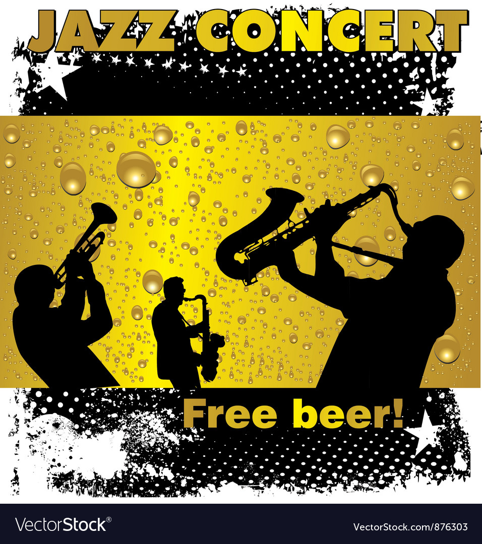 Jazz concert free beer wallpaper vector