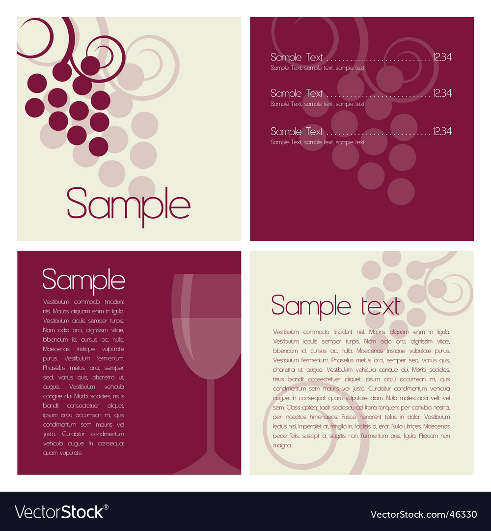 Wine brochure vector