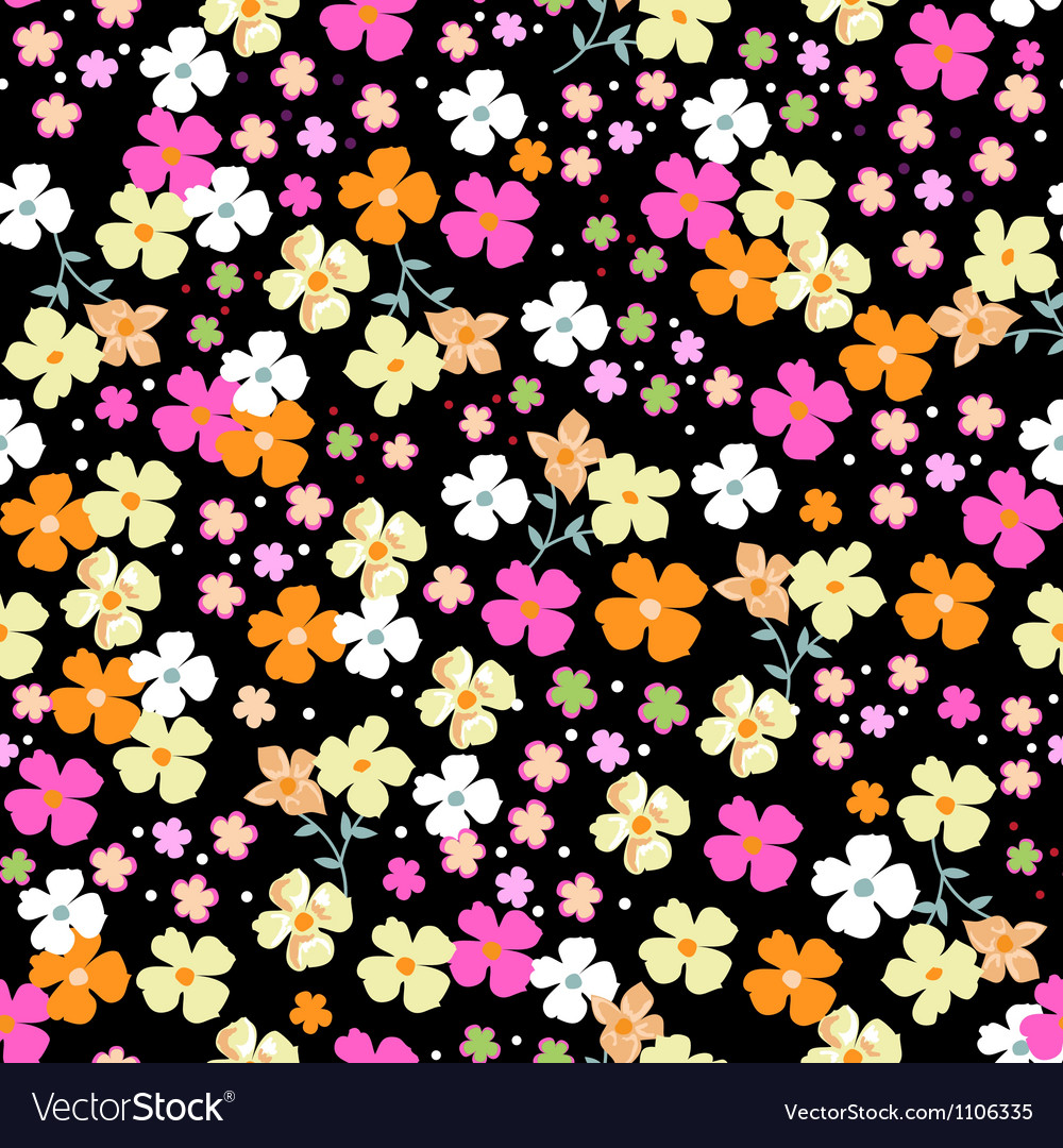 Cutie seamless floral vector