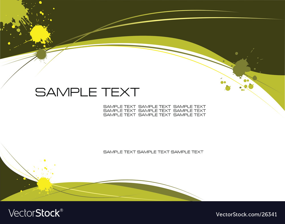 Yellow grunge vector