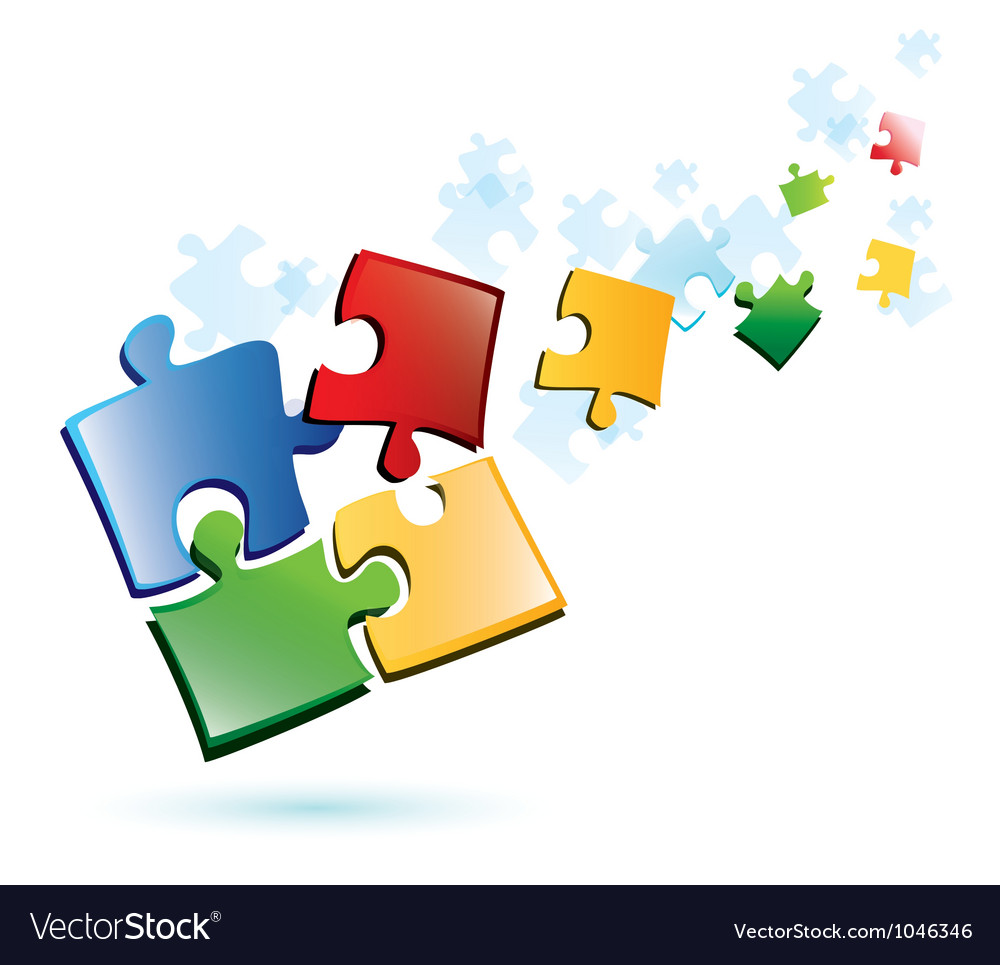 Puzzle piecies background vector
