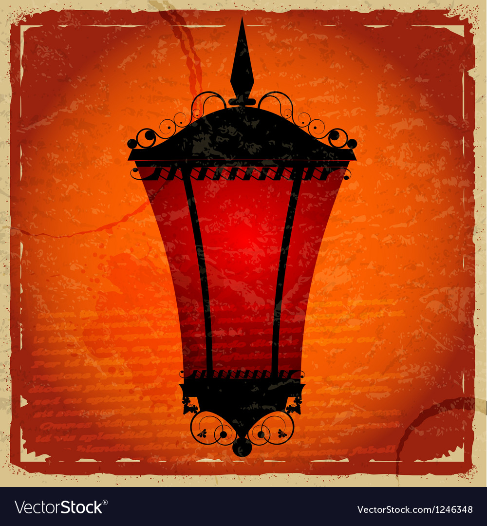 Free vintage card with a picture of red light vector