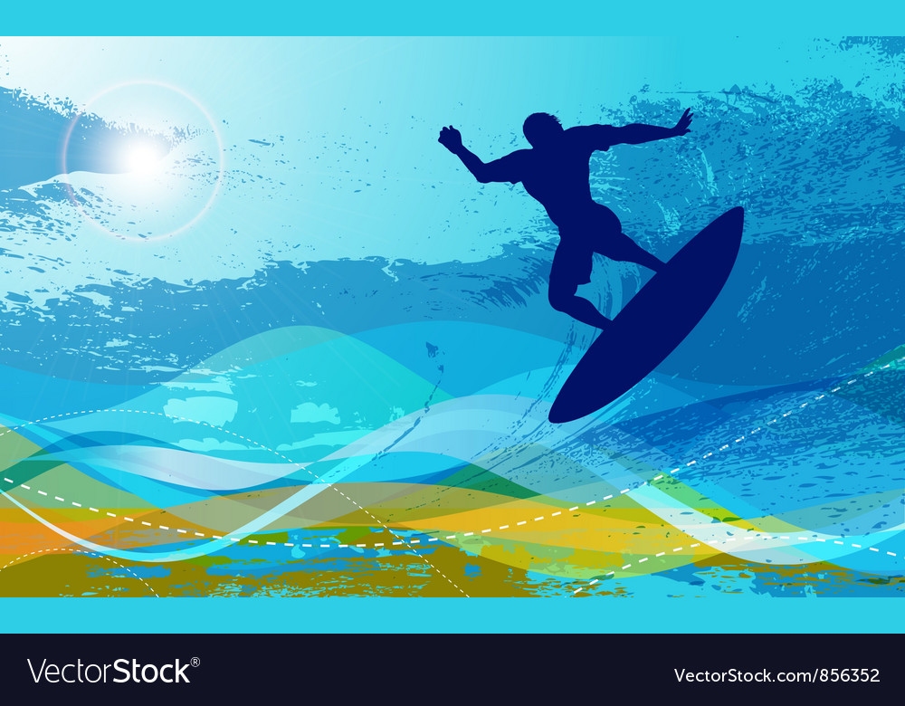 Free surfer with waves vector