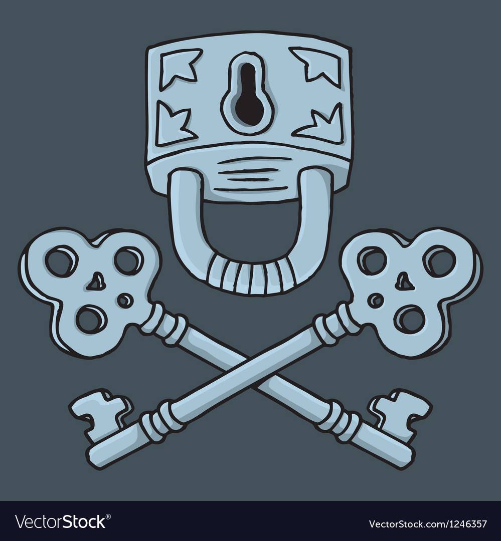 Jolly roger padlock vector