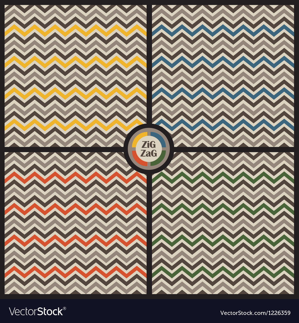 Zig zag background set vector