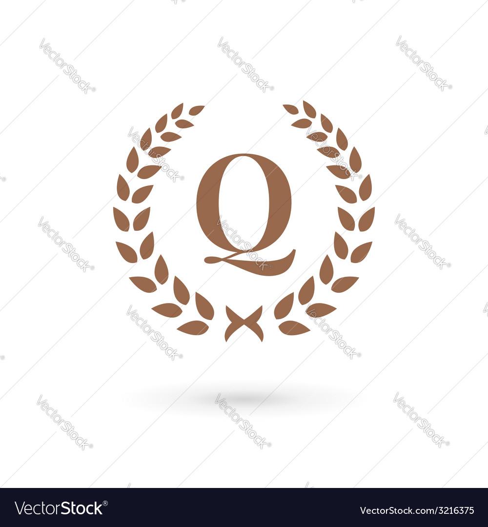 Letter q laurel ...Q Letter Design