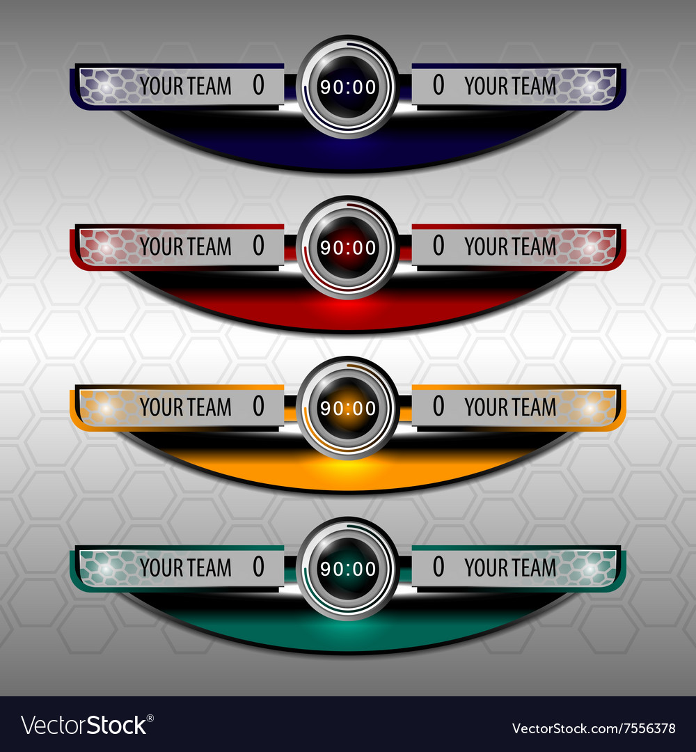 Scoreboard template vector by ijaydesign99 - Image #7556378 ...