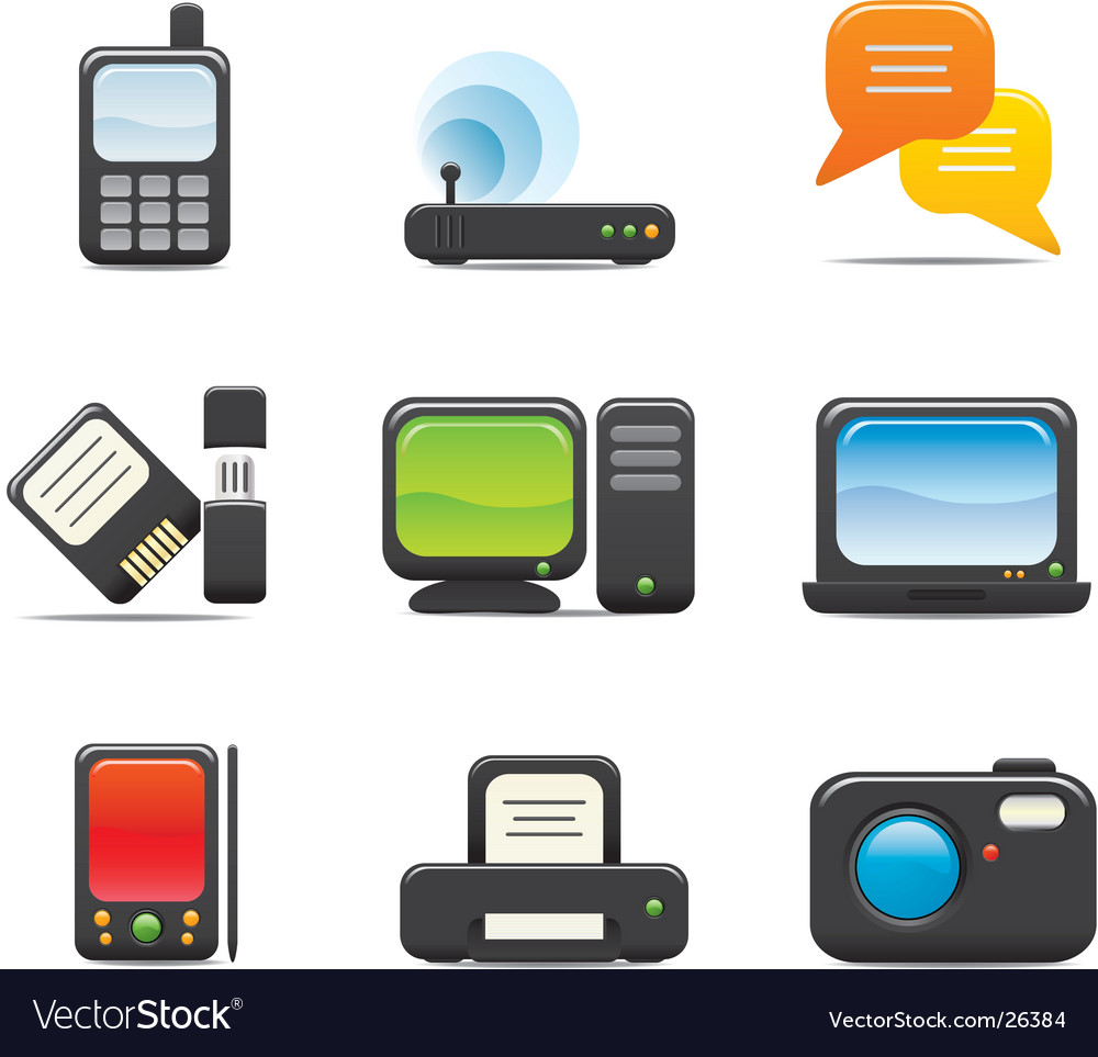 Electronic icon vector