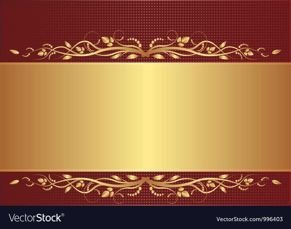 Burgundy and gold background vector