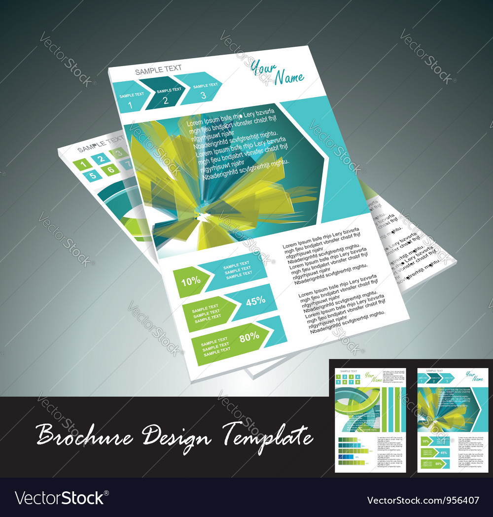 Brochure templates vector