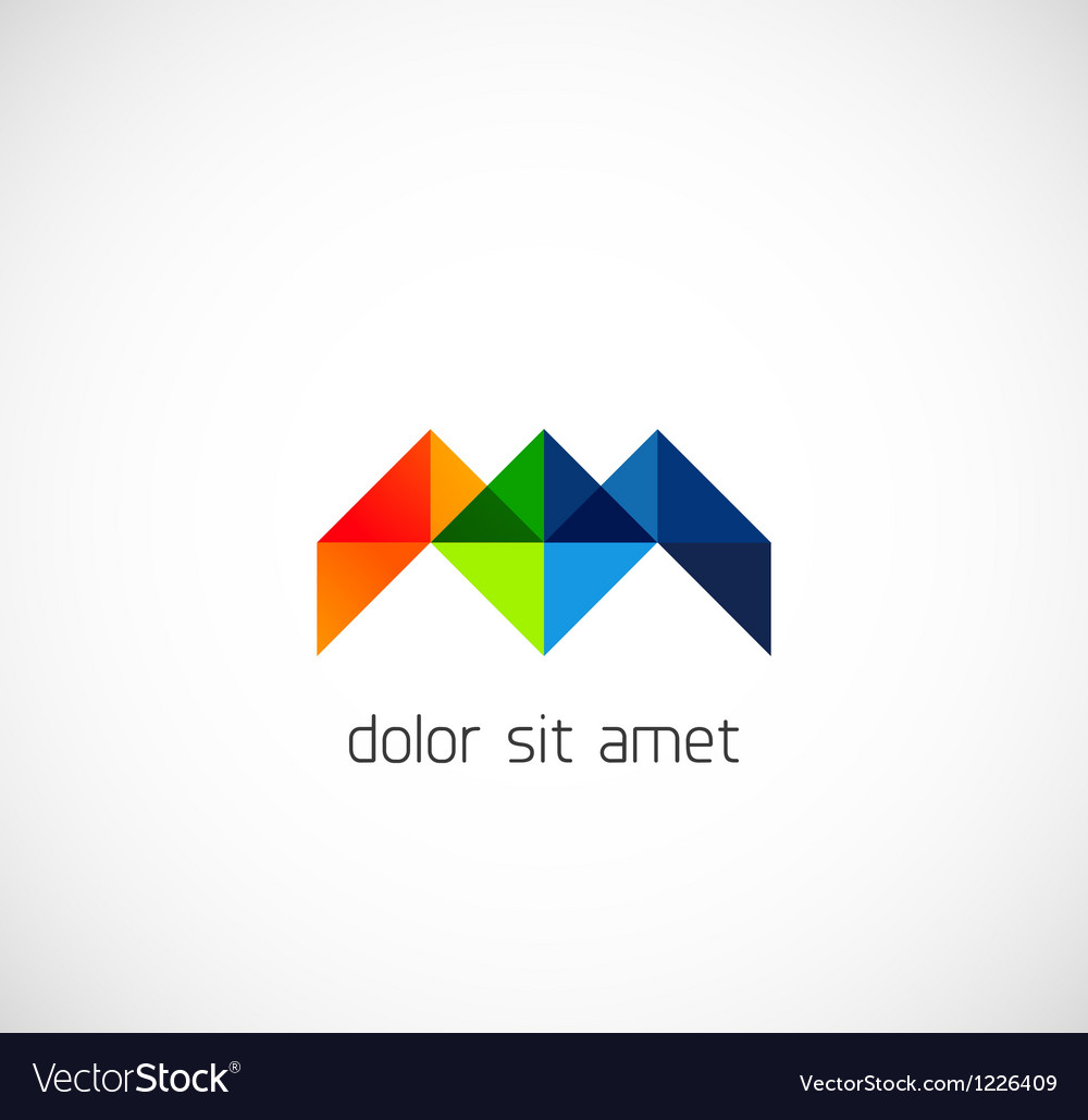 Modern triangle abstract business symbol vector