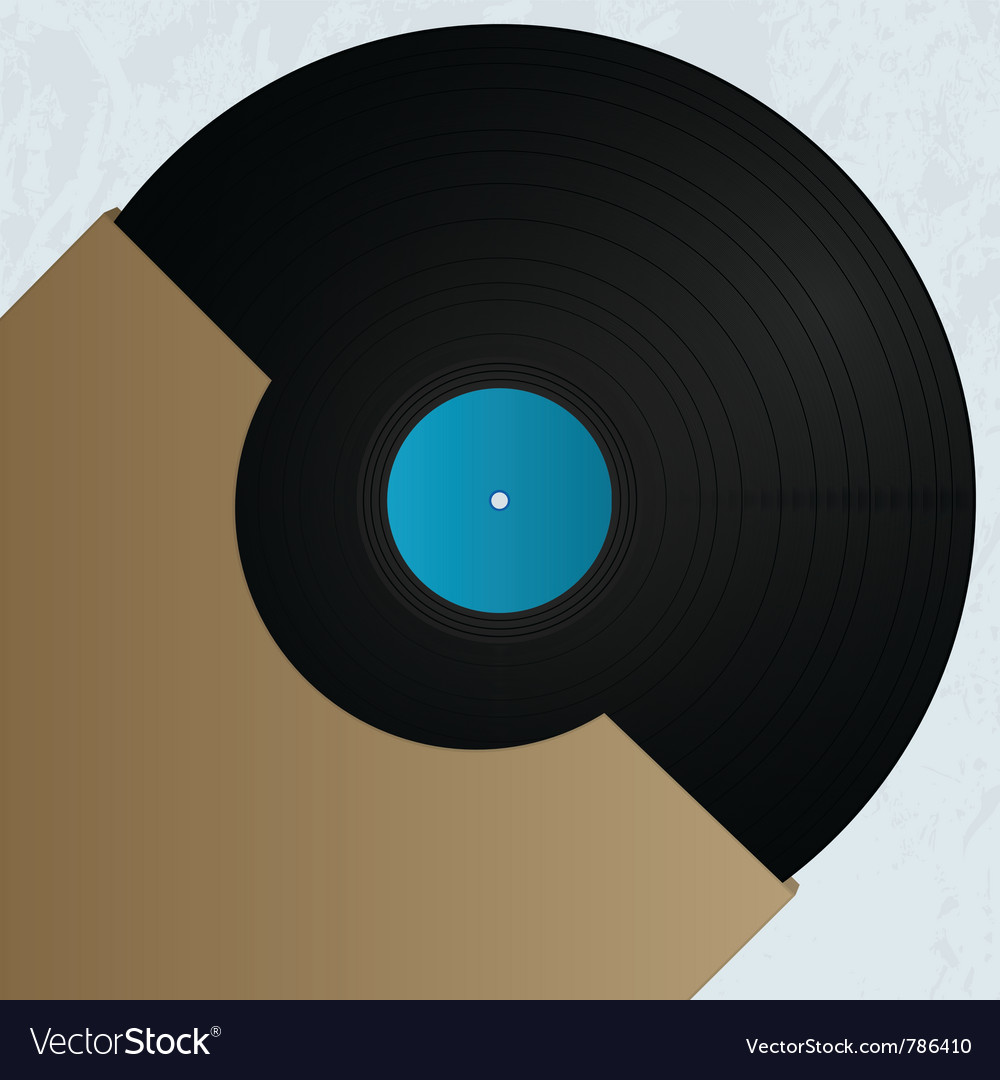 Vinyl cover art vector