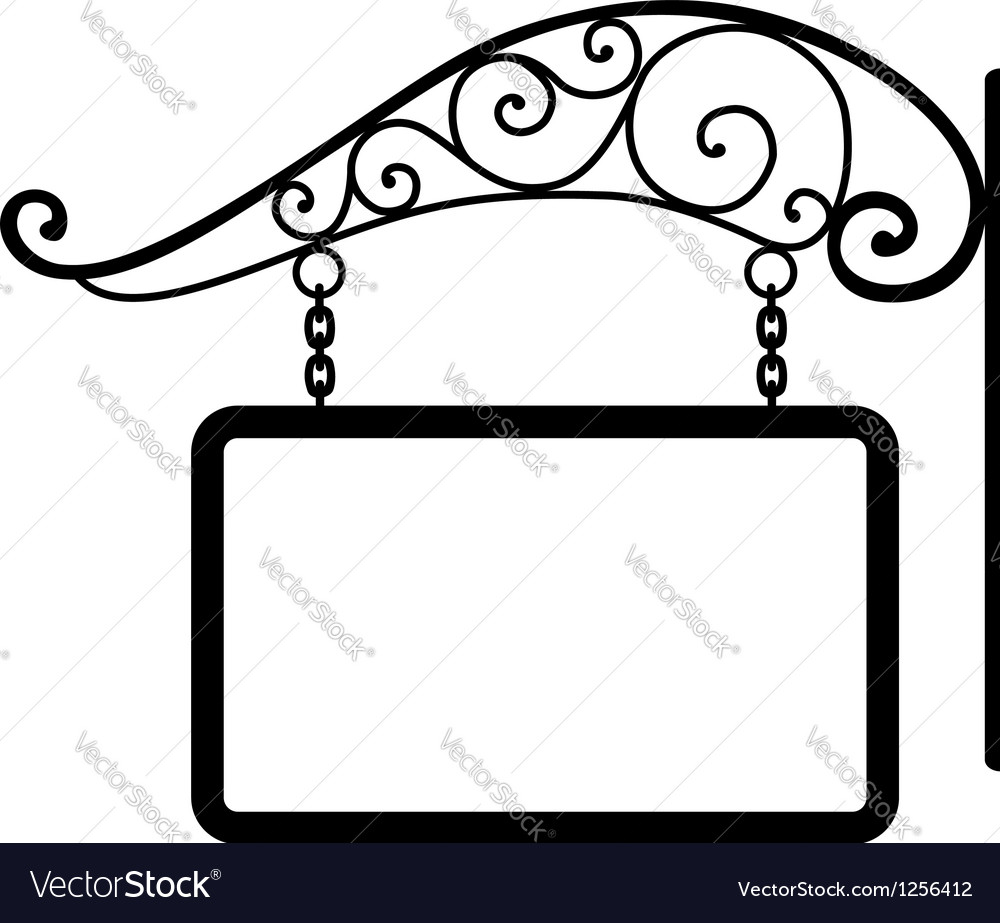Signboard and retro metal decoration vector