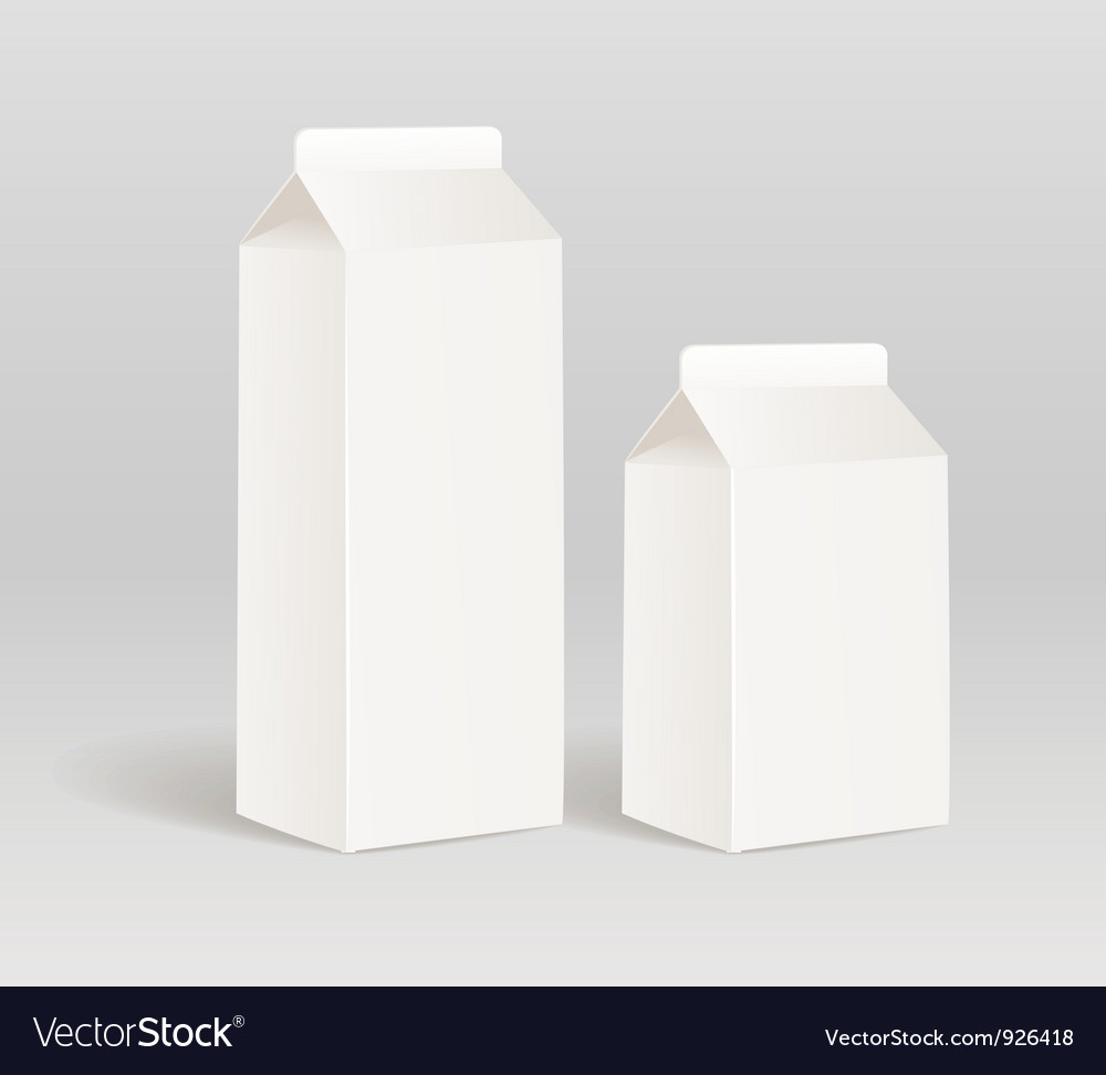 Milk product container vector