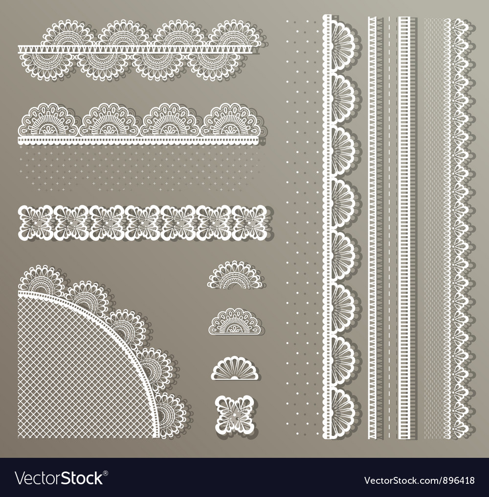 Straight lace set vector