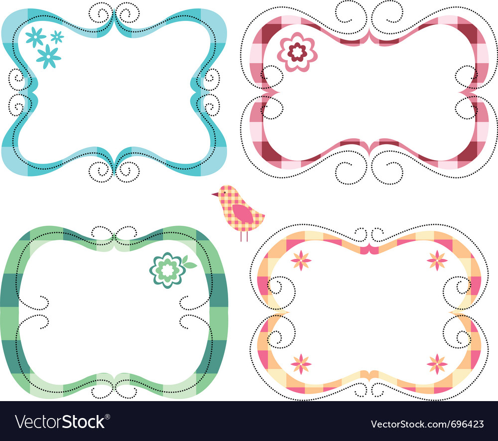 Free cute frames vector