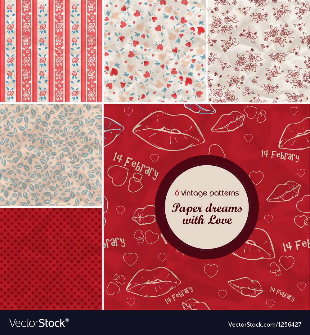 Vintage retro patterns8 vector