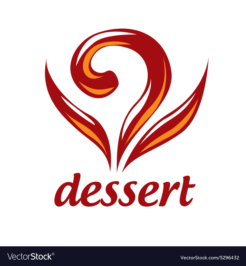 Abstract logo dessert and pastries