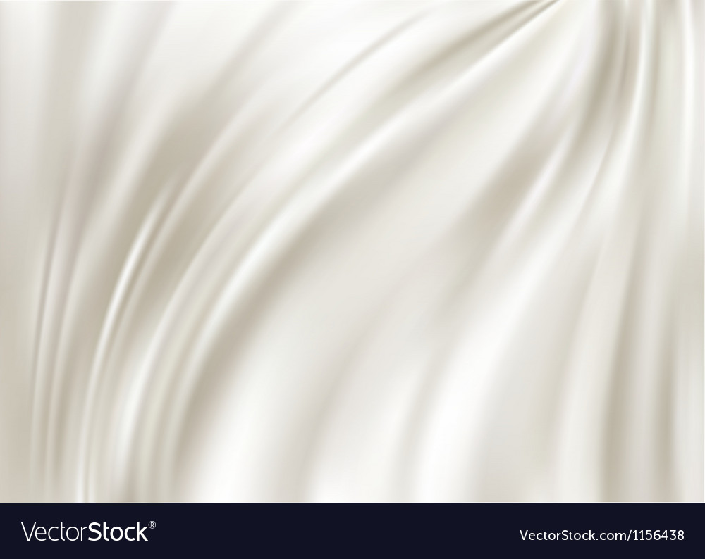 White silk background vector