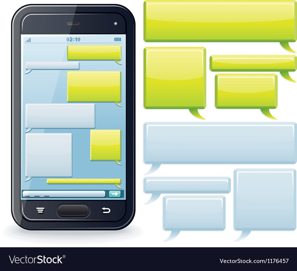 Phone chatting template image vector