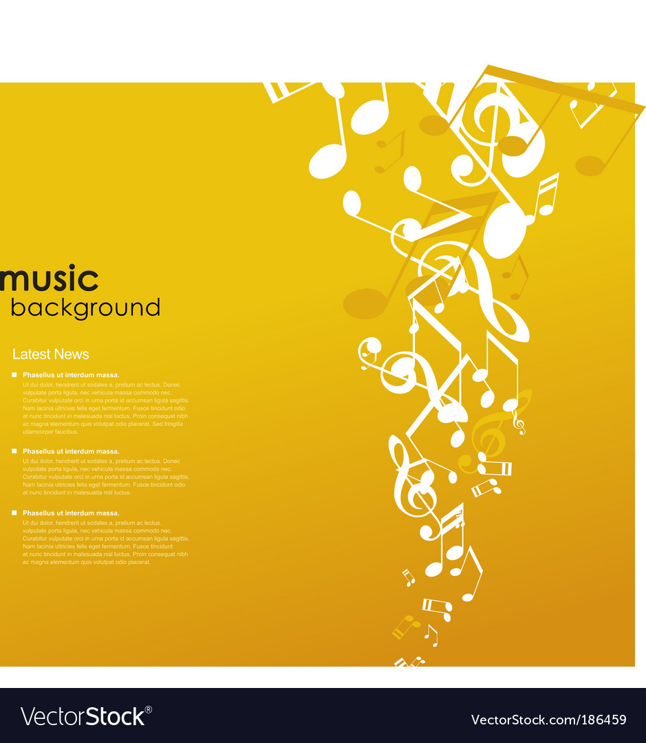 Abstract background with tunes vector