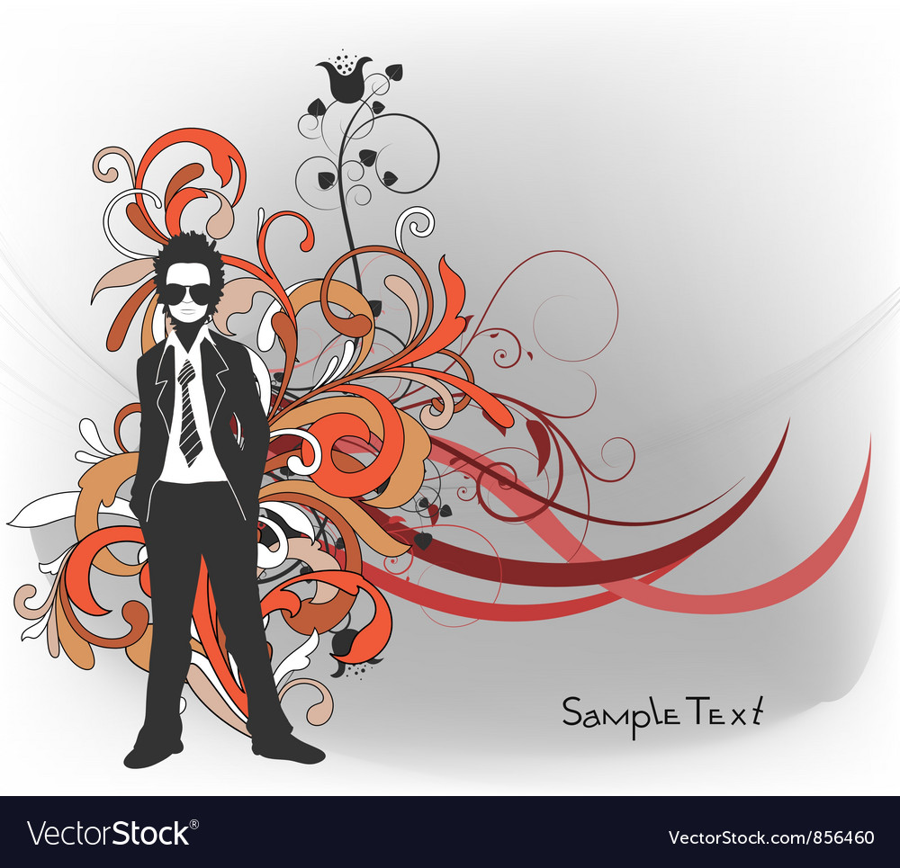 Abstract background with man silhouette