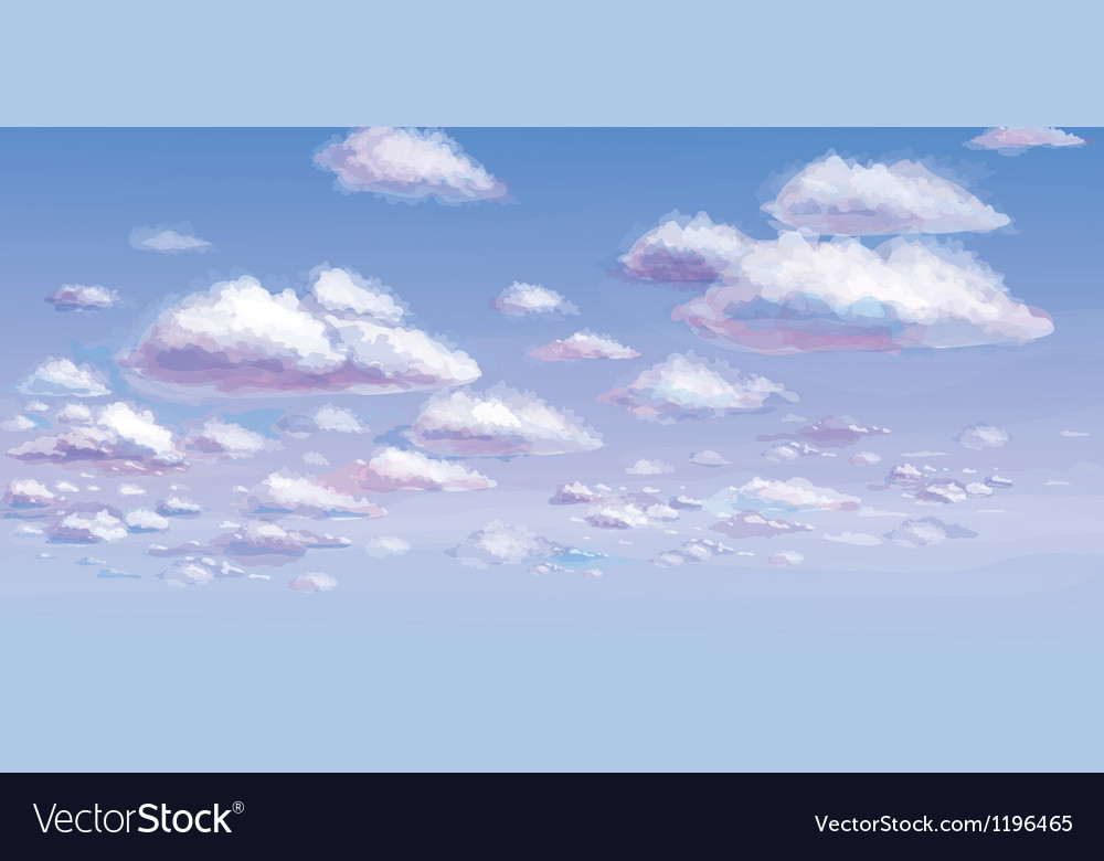 Blue sky and white clouds vector