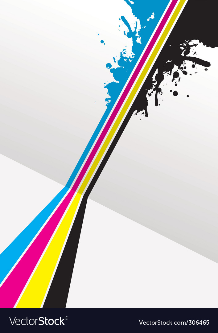 Cmyk splashed vector