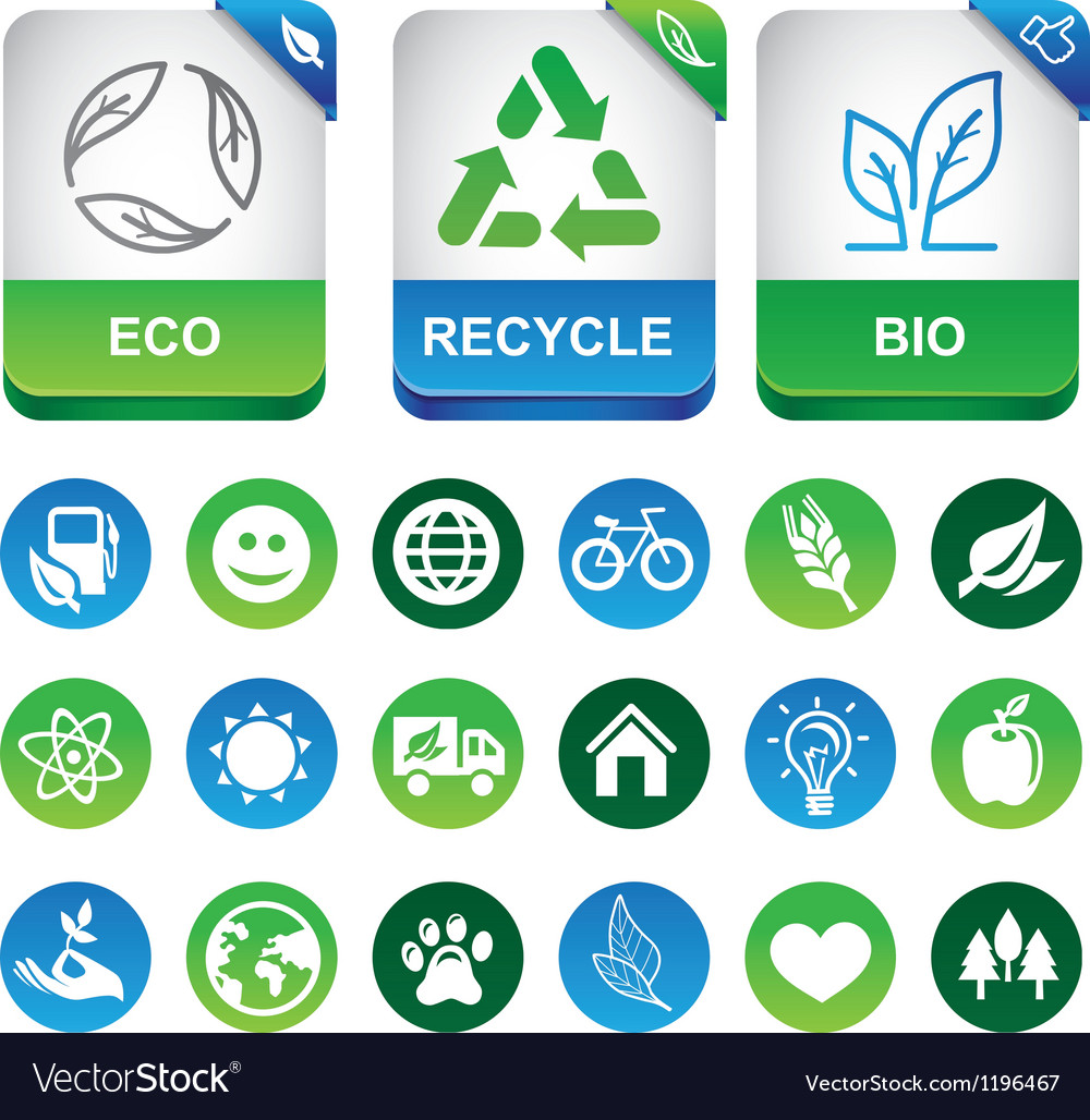 Ecology infographics elements vector