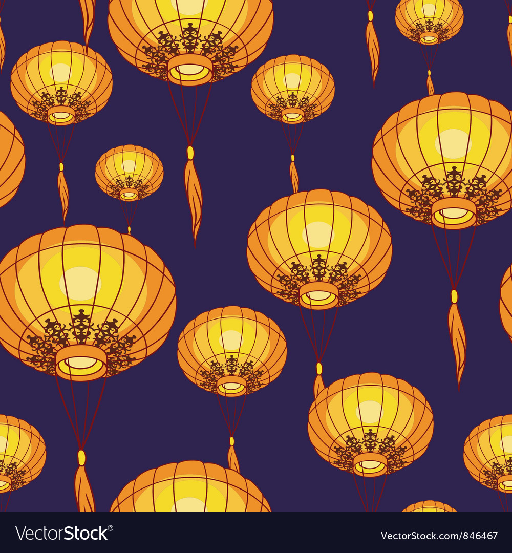 Fairylights big traditional chinese lanterns vector