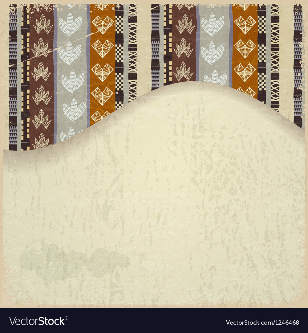 Abstract background with african tribal elements vector