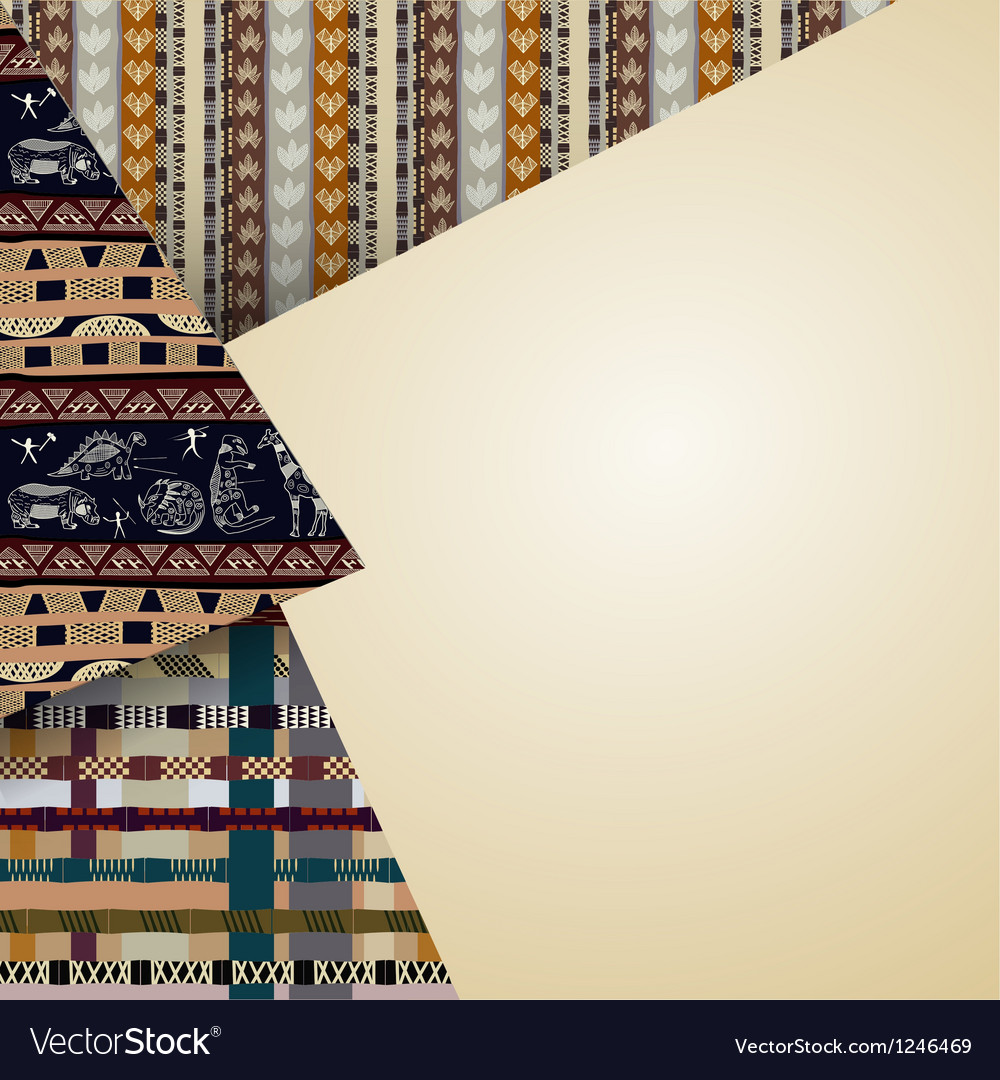 Abstract background with tribal elements vector