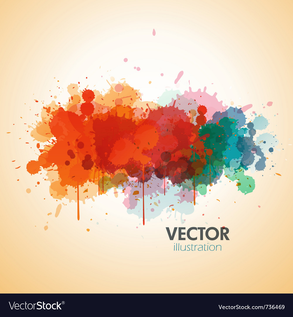 Paint splat background vector