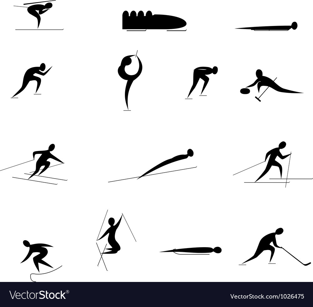 Winter olympic games vector
