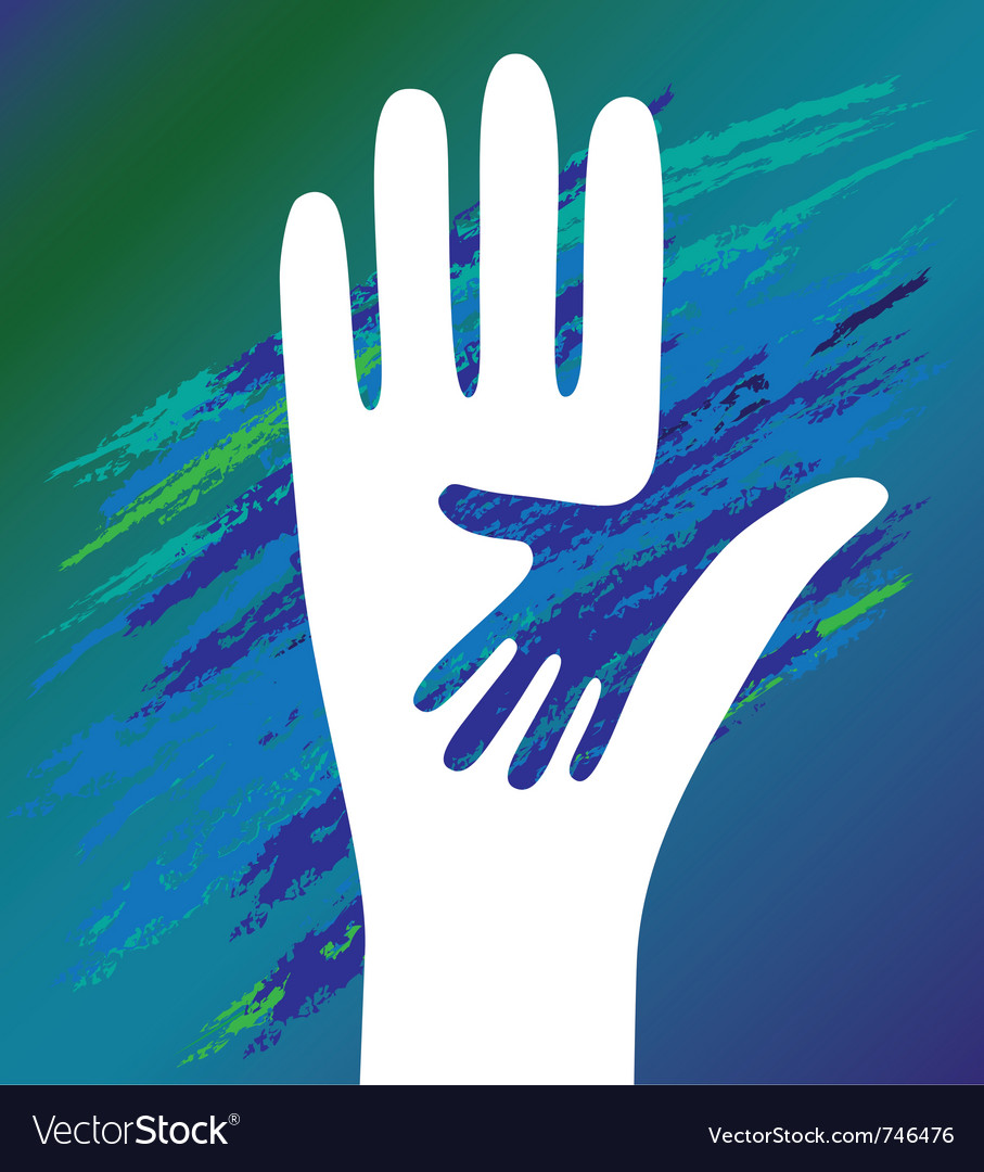 Hand of the child vector