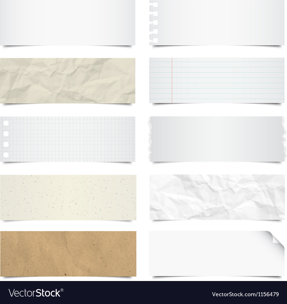 Collection of note papers background eps 10 vector
